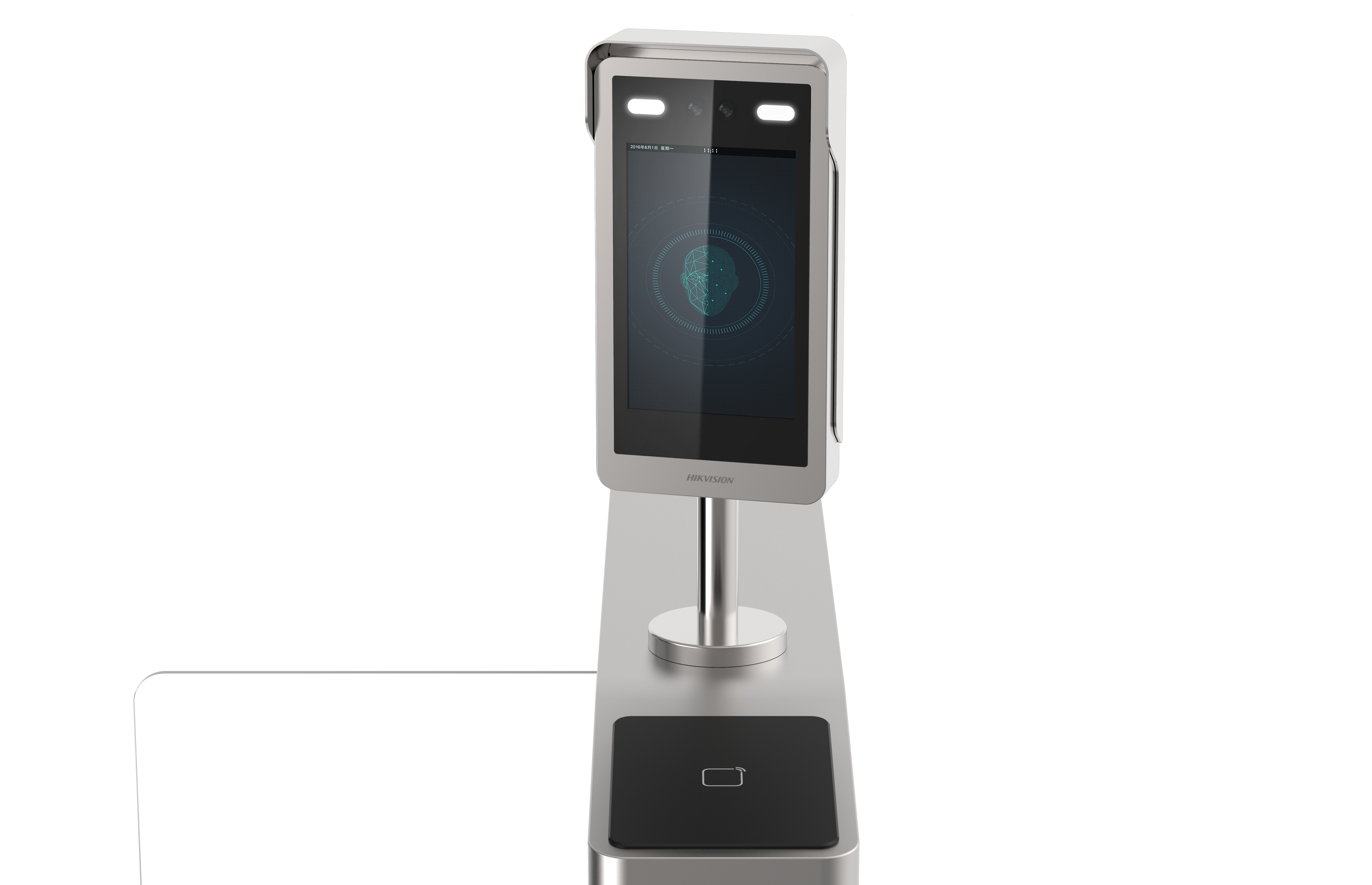 Face recognition device close-up